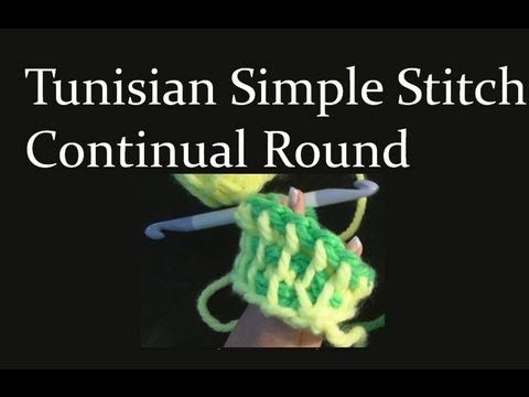 Tunisian Knit Stitch In The Round : 17 Best images about Crochet - Tunisian Stitch Instructions on Pinterest Vi...