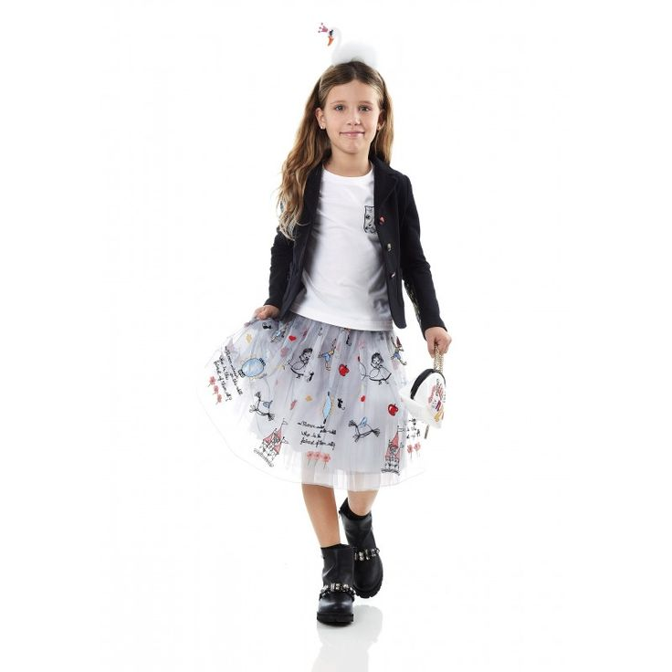 Fairy tales embroidery skirt - Girl - Fall-Winter