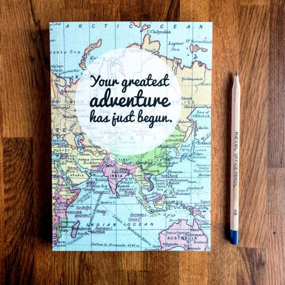 Nuovo diario di viaggio di avventura laurea regalo di BookishlyUK