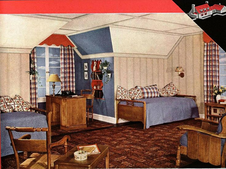 89 best 1940s bedroom images on Pinterest | Retro bedrooms ...