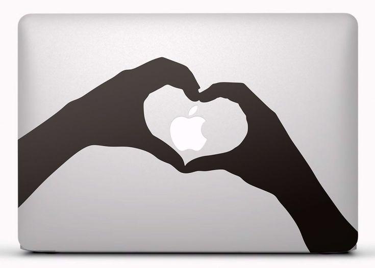 Pegatinas: Silueta manos corazón Vinilo, pegatina, adhesivo para portátil, Mac, o Macbook. #vinilosportatil  #vinilosmac #vinilosmacbook