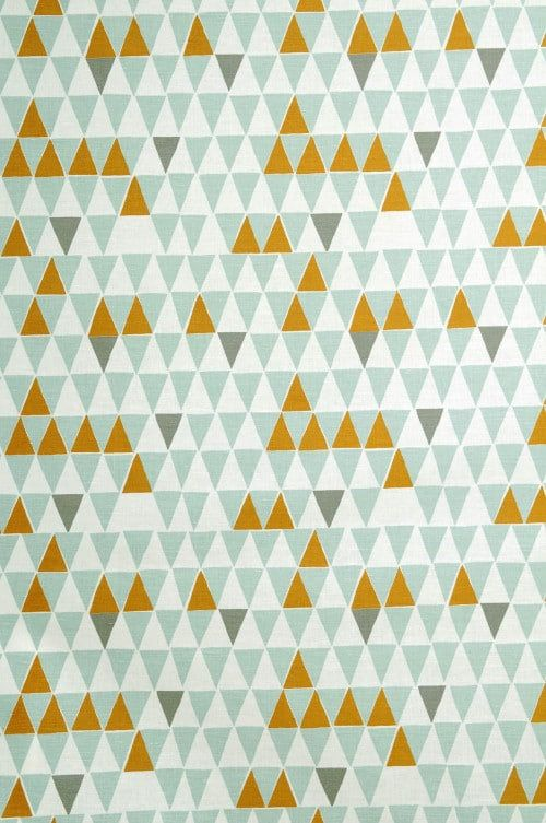 Geometric print roman blind | Orange light blue roman shade | retro roman shade  | custom window shade | roman shade | custom roman blind