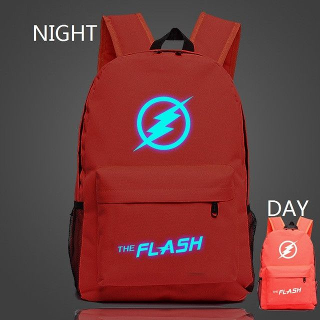veevanv 2016 popular Marvel movie stars flash light backpack bag teenagers Backpack School Travel Backpack color optional