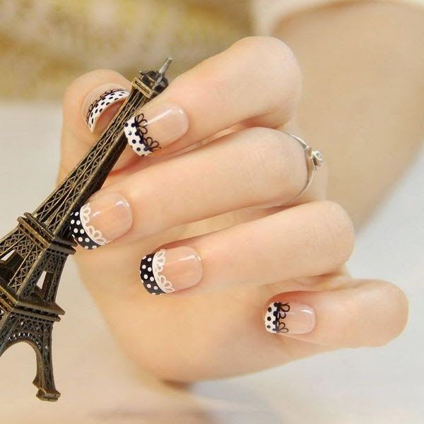 Fashionable Lace Nail Art Designs