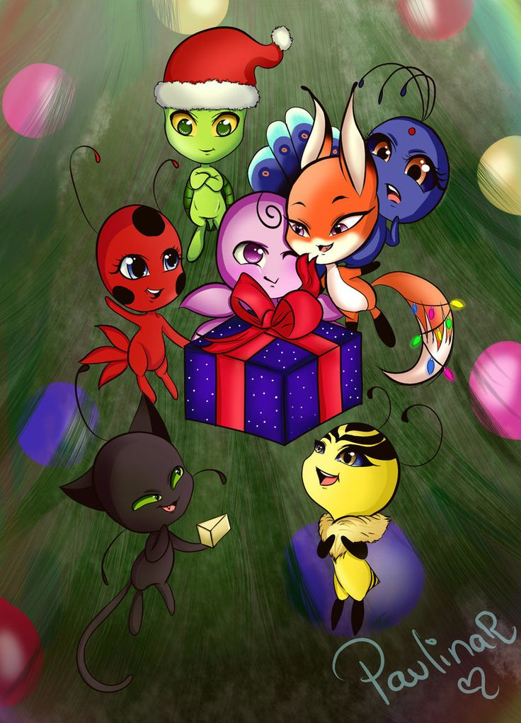 Kwamis Christmas/Navidad by carolina123hey | Miraculous ...