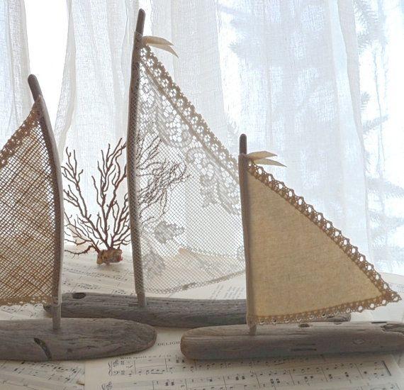 Ensemble de trois bois flotté Art Beach Decor par LoveEmbellished