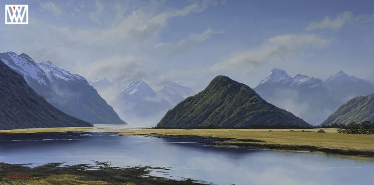 The Head of Wakitipu New Zealand Original Oil Painting http://waynevickers.com/gallery