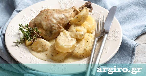 Λεμονάτο κοτόπουλο από την Αργυρώ Μπαρμπαρίγου   Ελαφρύ αλλά νόστιμο κοτόπουλο λεμονάτο με ξεμυαλιστικές πατατούλες. Ιδανικό για το καθημερινό τραπέζι