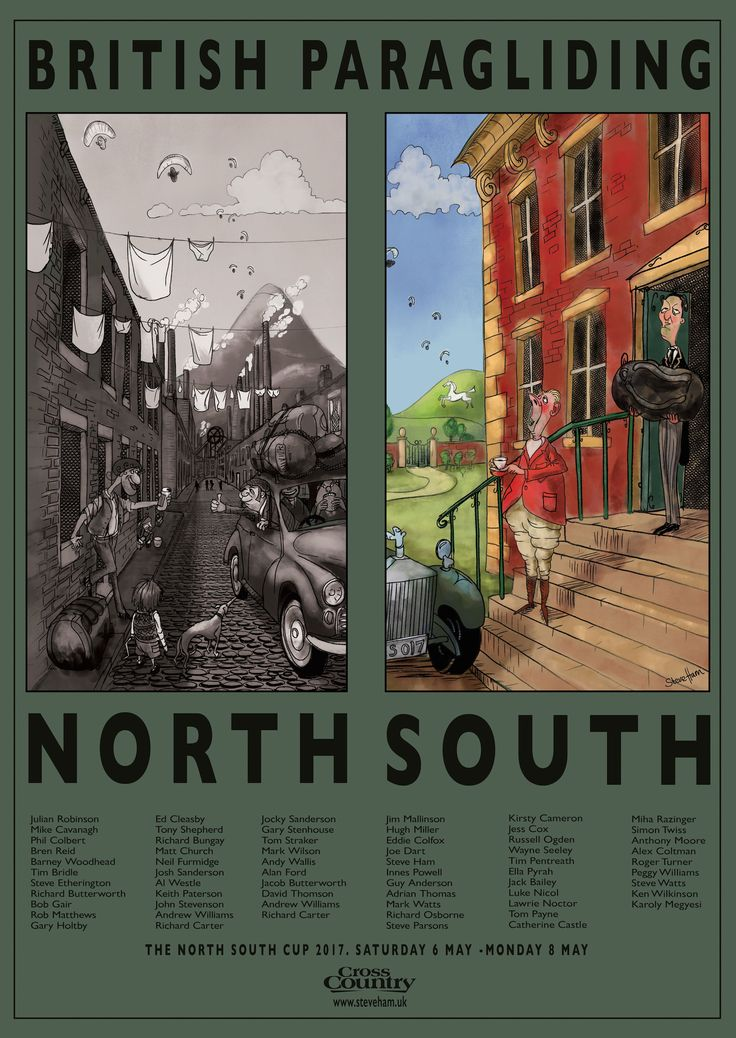 North South Cup. Vintage Poster