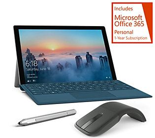 Microsoft Surface Pro 4 Intel 128GB SSD Office, SD Card & MS Arc Mouse