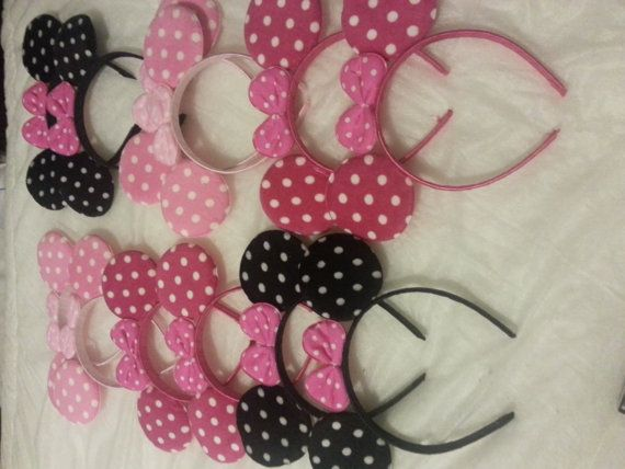 12 pieces BEAUTIFUL MINNIE MOUSE  party favor headband ears