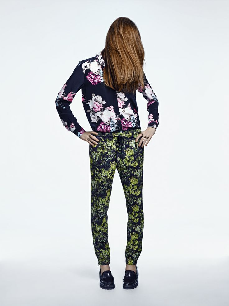MERCURY MARY SILK SHIRT IN BLACK FLORAL, BLANK GENERATION TROUSERS IN YELLOW FLORAL - FWSS SU13 http://fallwinterspringsummer.com