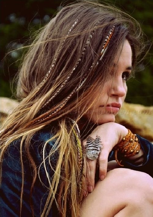all down hairstyles,  long hairstyles - hippie hairstyle for women