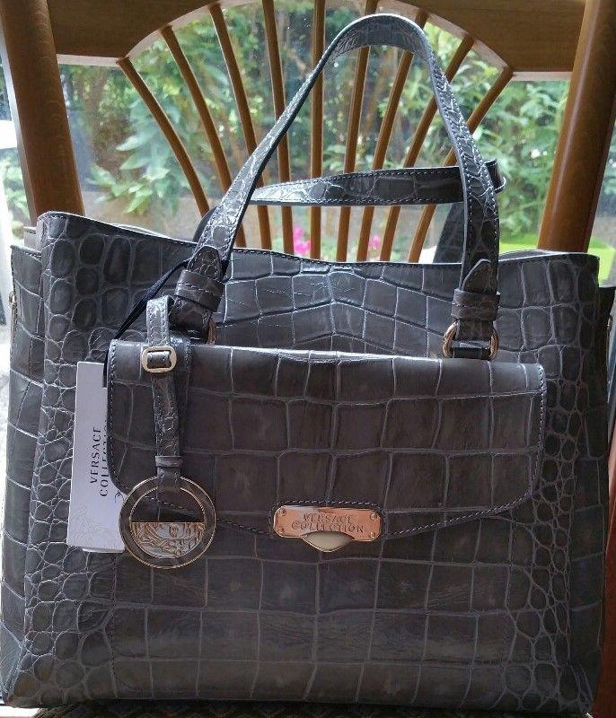 Sac à main cuir kaki Versace ludo : Coups de Coeur : Achetez des articles de luxe neufs certifiés