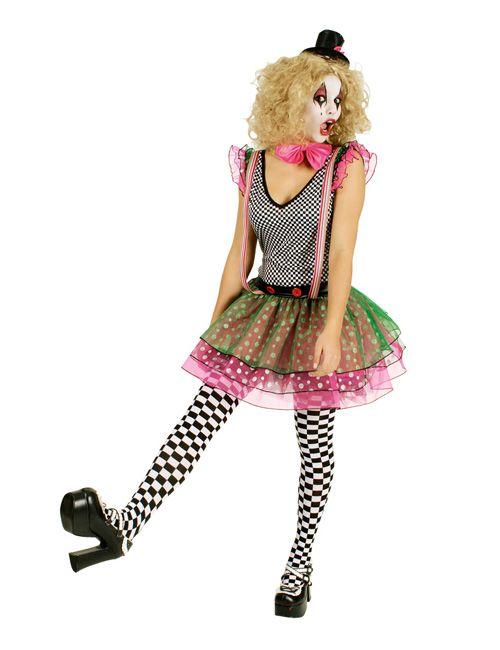 Clownfrau Damenkostüm Harlekin schwarz-weiss-bunt - Artikelnummer: 628240000 - ab 39.99 EURO - bei www.racheshop.de!