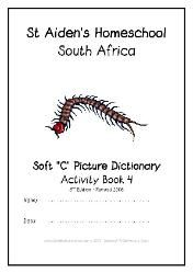 Soft C - Alphabet Picture Dictionary Workbooks/Activity Books, Freebies, download one or download all #Homeschool #education