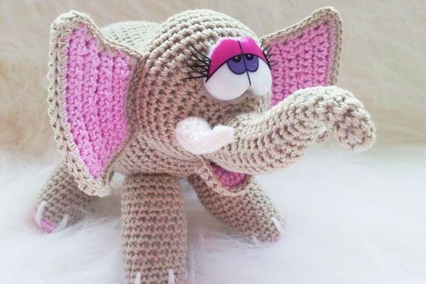 Häkelanleitung - Elefant amigurumi