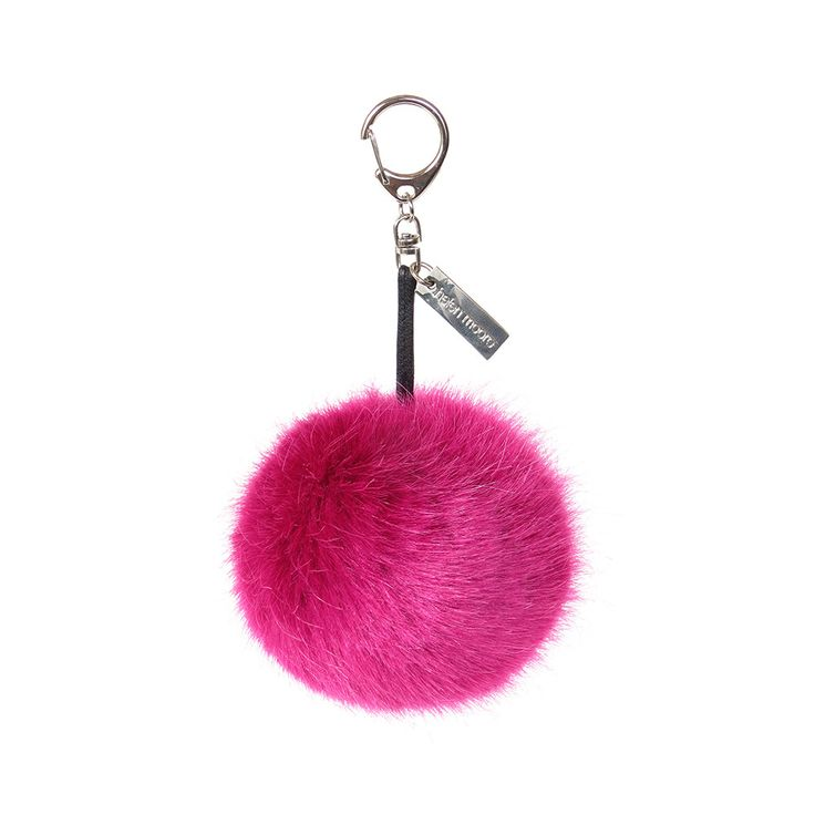 Add charm to your accessories with this Pom Pom keyring from Helen Moore. A great way to bring a personal twist to keys or handbags, a chic faux leather strap and engraved Helen Moore tag add elega...