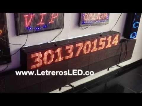 Pasamensajes LED 16x128 Doble Cara, Programable USB. Aviso LED. Letrero LED - Letreros LED, Avisos LED, Pantallas LED Programables. Colombia - www.LetrerosLED.co