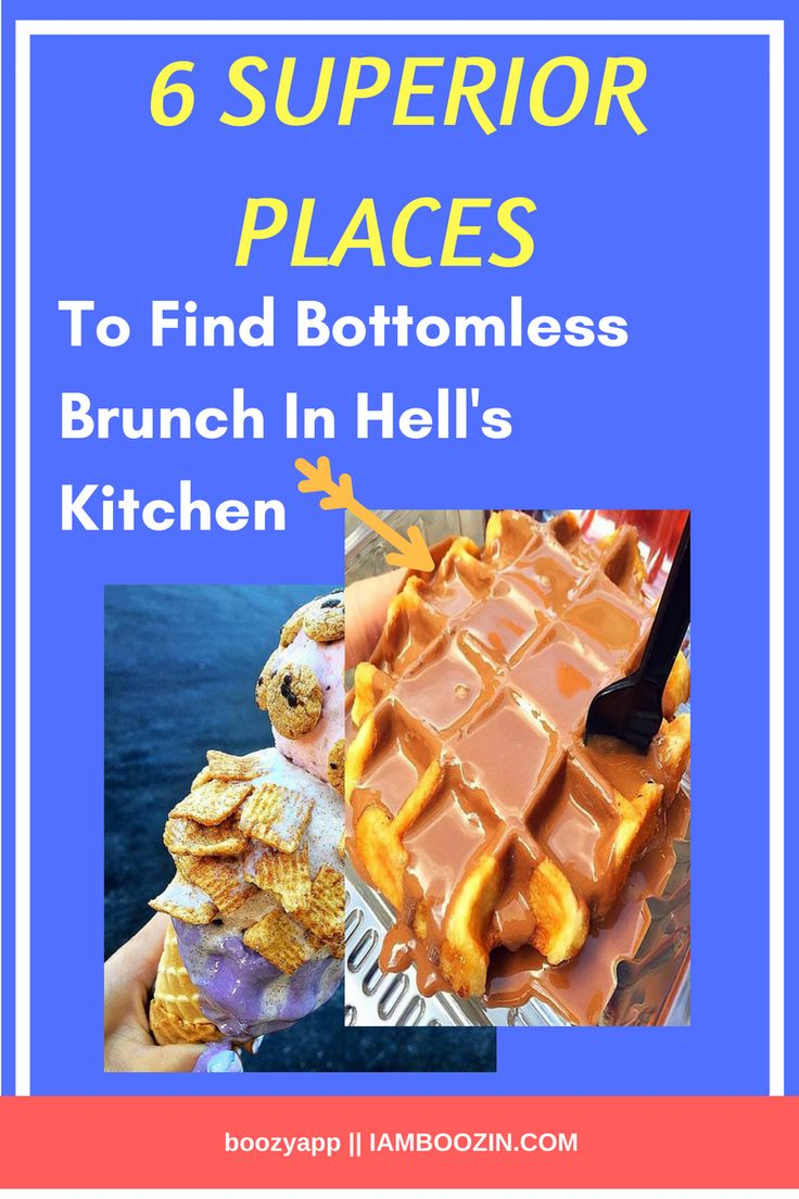 Brunch NYC | 6 Superior Places To Find Bottomless Brunch In Hell's Kitchen...Click through for more  Brunch New York New York Brunch Bottomless Brunch NYC Brunch NYC NYC Brunch