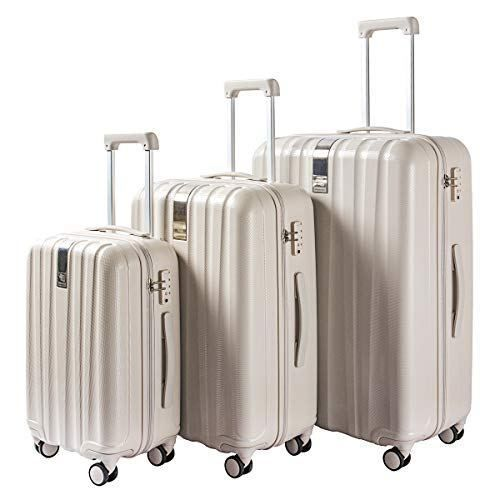 30a656b3c987 Hanke Lightweight 3 Pieces Luggage Sets PC 20in 24in 28in Spinner ...