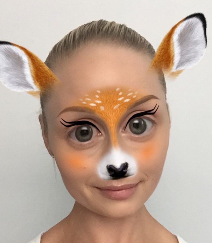 Last minute, quick Halloween costume. Turn the Snapchat deer filter into your real life Halloween makeup.