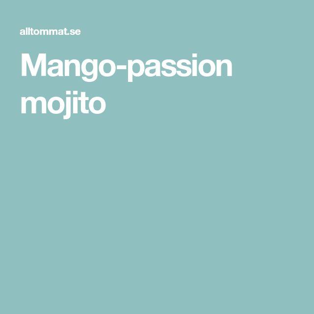 Mango-passion mojito