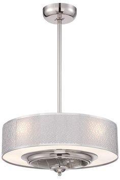 Cozette Indoor Ceiling Fan - Ceiling Fans With Lights - Modern Ceiling Fans - Contemporary Ceiling Fan | http://HomeDecorators.com
