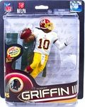 Robert Griffin III (Washington Redskins) Red Helmet  Manufacturer: McFarlane Toys Series: McFarlane Toys NFL Sports Picks Football Series 32 Action Figures Release Date: July 2013 For ages: 4 and up UPC: 787926756227 Details (Description): McFarlane Toys NFL Series 32 offers up a wide mix of NFL superstar favorites, and some new faces never before seen in the SportsPicks universe!
