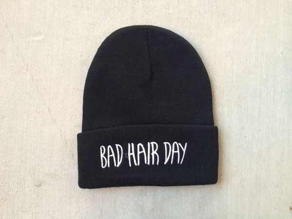 Bad hair day beanie. Edgy and comfortable. One size fits all. $10