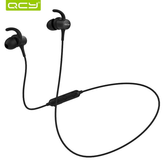Qcy M1s Magnetic V4 2 Chip Bluetooth Headphone Ipx5 Rated Sweatproof Wireless Earphone Sport Ear Hooks Headset With Microphone Review Wireless Earphones Sports Earphone Wireless Earphones
