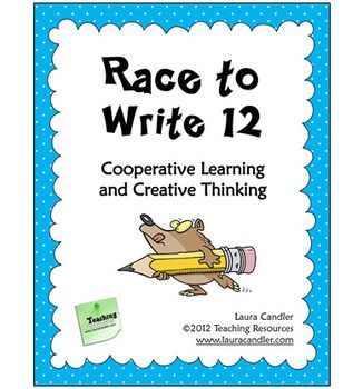 Race to Write 12 is an engaging activity to use when you have a few minutes of extra time and want to stimulate creative thinking and foster collaboration. Students in teams work together to write 12 items on a given topic and complete the task before the other teams in the class.   Laura Candler, cooperative learning, teamwork
