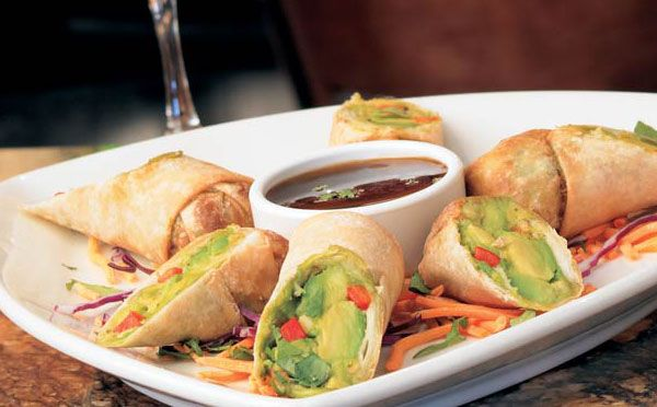 BJ's Restaurant & Brewhouse - Avocado Egg Rolls