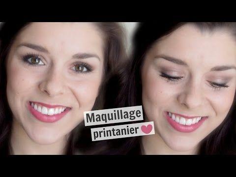 Maquillage Printanier ♡ - YouTube