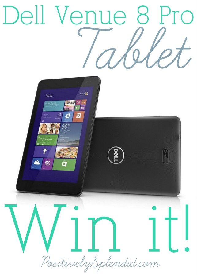 Win a Dell Venue 8 Pro tablet computer! #tabletcrew