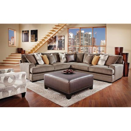 Love Rc Willey Granite Upholstered 3 Piece Sectional H