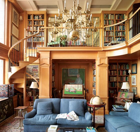 A Reading Room With a View. Designed by ICAA member and architect Richard Sammons of Fairfax & Sammons.
