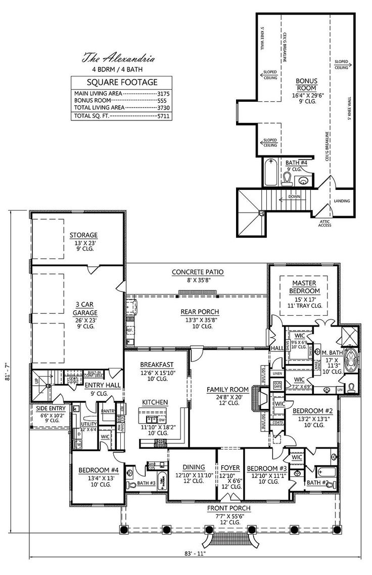 250 best house plans images on Pinterest | Brick paint colors ...
