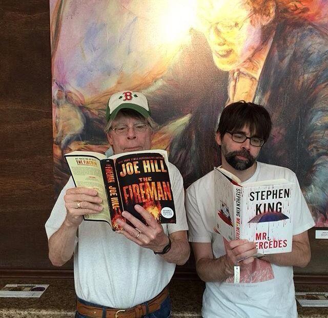 "Stephen King reads Joe Hill's ""Fireman"", and Joe Hill reads Stephen King's ""Mr. Mercedes"""