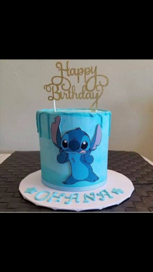 Pastel With Images Stitch Cake Lilo And Stitch Cake Disney