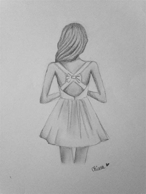 drawings easy girly teens pencil sketches