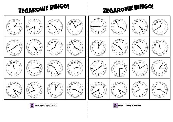 Zegar Bingo! gra do druku