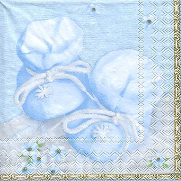 Serviett, 33x33 cm - Baby, blue
