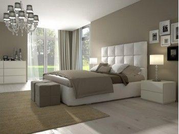 Chambre beige blanc