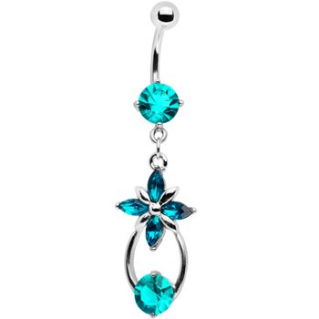 blue flower drop belly button ring Check out some of the most popular belly button rings at this link $9.99