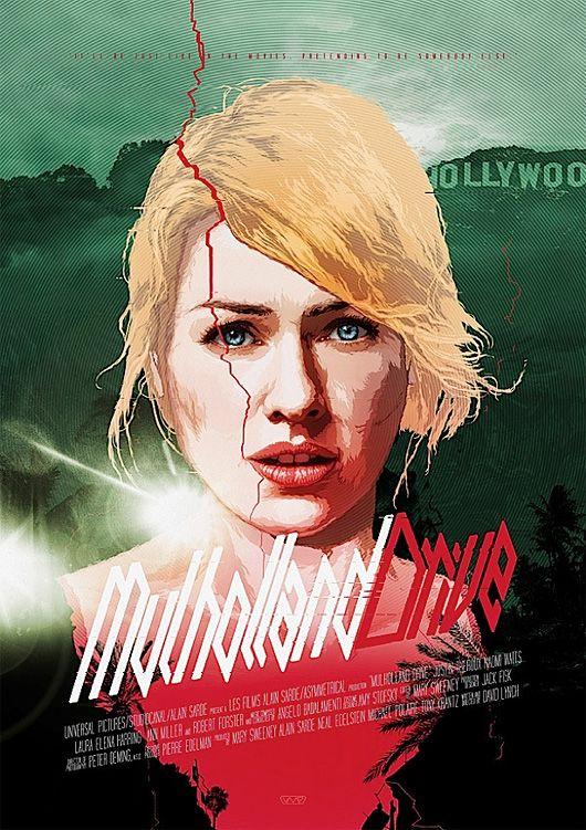 We love this artist interpretation of the Mulholland Drive poster. #DavidLynch #Poster #Movie