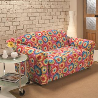madison stretch jersey tiedye loveseat slipcover multi