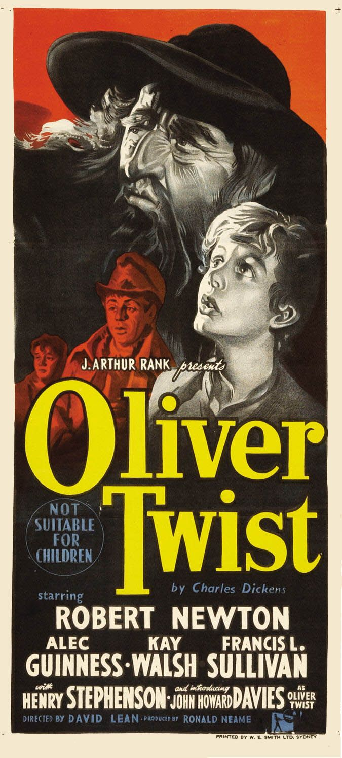 """Oliver Twist"" (1948): directed by David Lean. Movie poster"