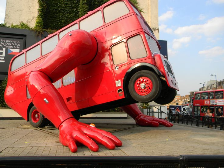 It's alive! This bus in the London Borough of Islington starts doing push-ups just when you least expect it.