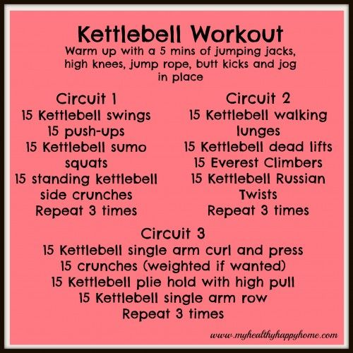 """30 min"" Kettlebell Workout, took me way longer than that but it is awesome  